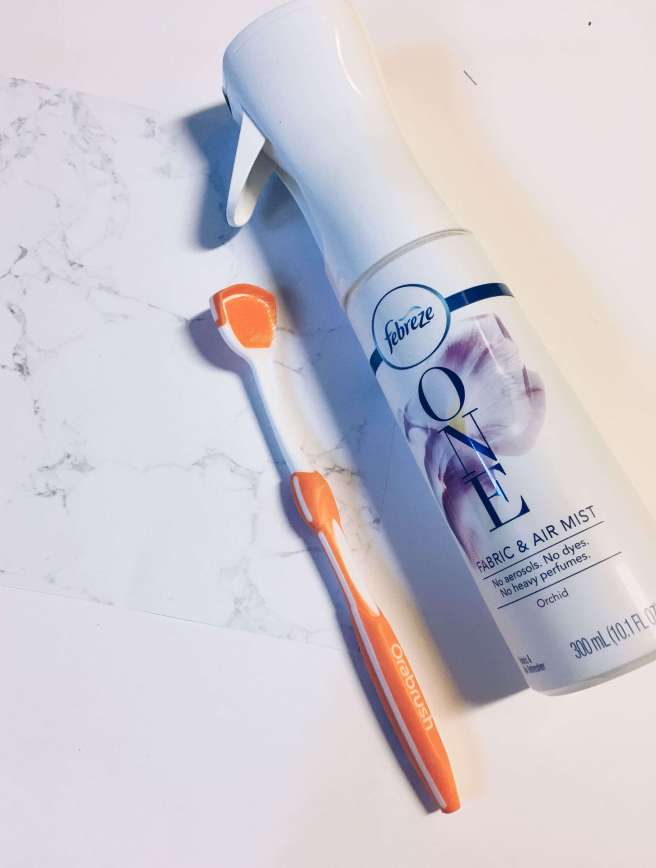 Febreeze One Fabric & Air Mist and Orabrush