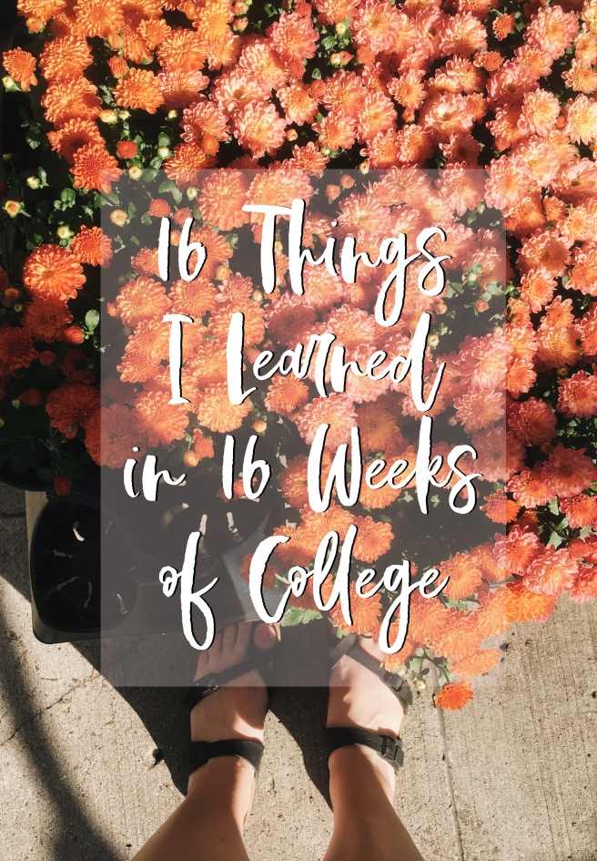 16 Things I Learned in 16 Weeks of College | Junior Year Fall
