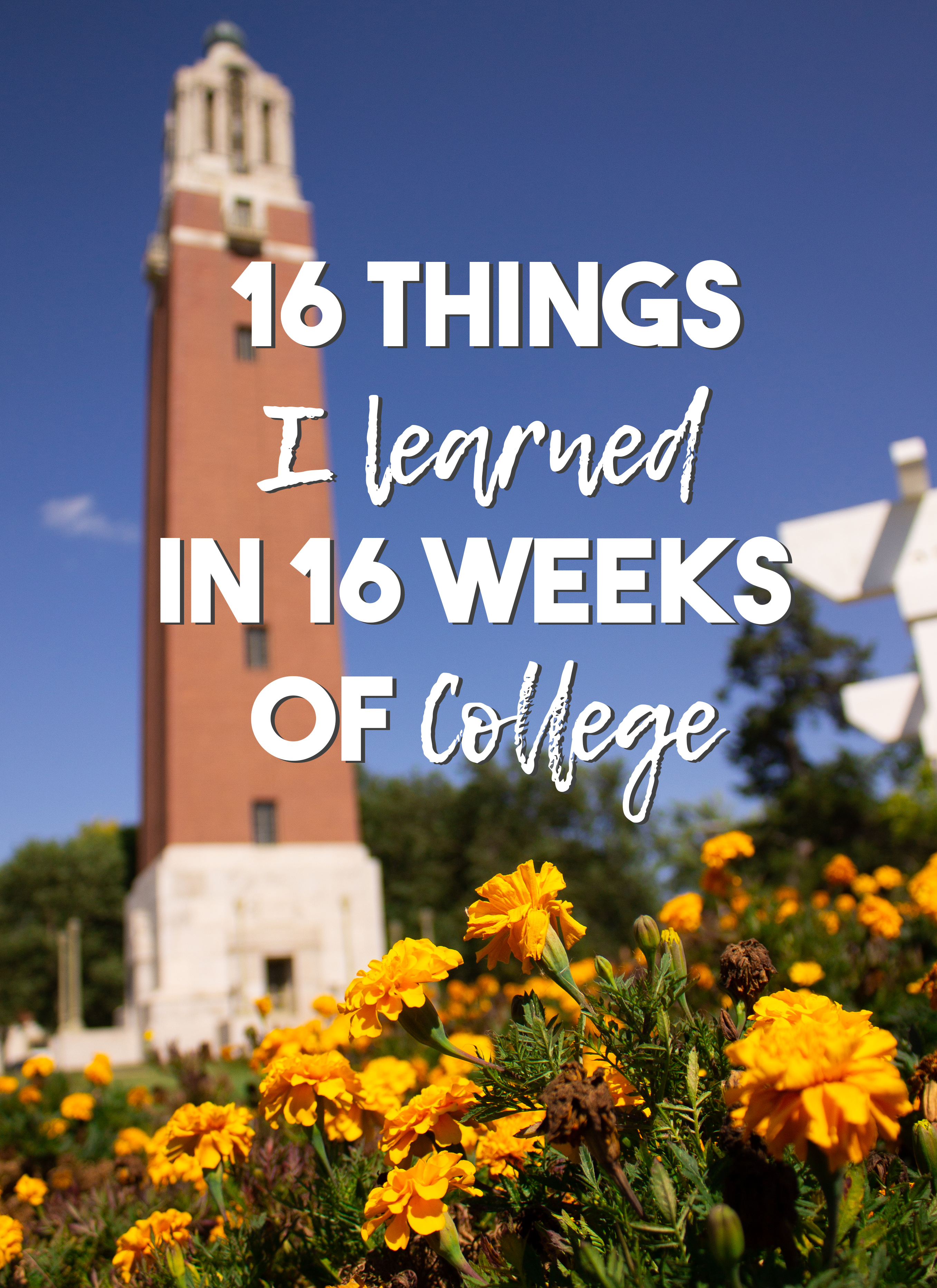 16 Things I Learned in 16 Weeks of College | Junior Year Spring