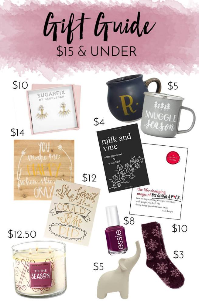 Holiday Gift Guide | $15 and Under