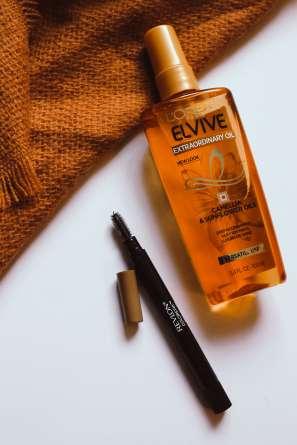 L'Oreal Elive Hair Oil & Revlon Brow Mousse