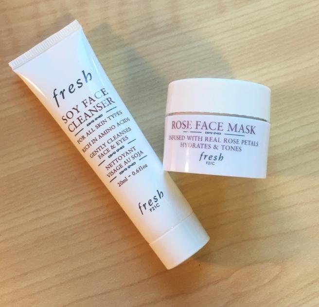 Sephora birthday gift 2016 Fresh Soy Face Cleanser & Fresh Rose Face Mask