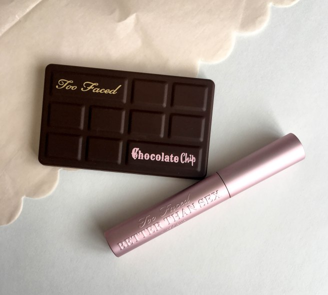 Too Faced Chocolate Chip Palette and Better than Sex Mascara