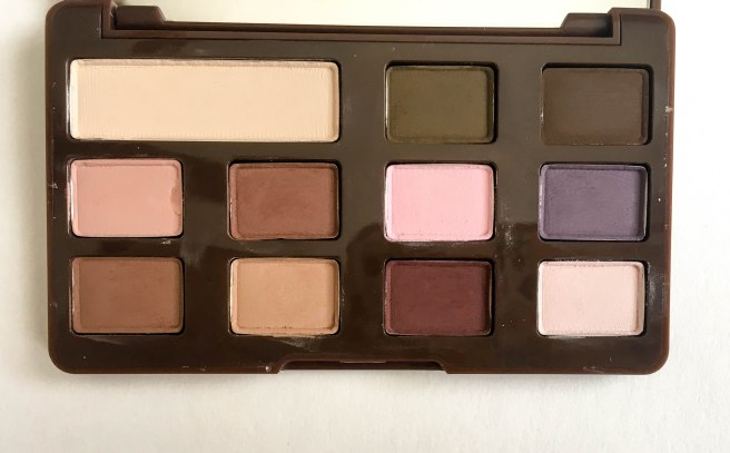 Too Faced Chocolate Chip Palette Shades