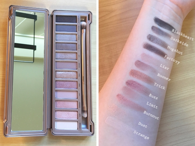 Urban Decay Naked 3 Palette Swatches on Fair Skin